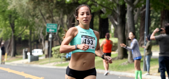 Ayla Granados winning and setting the course record in the Los Gatos Mile