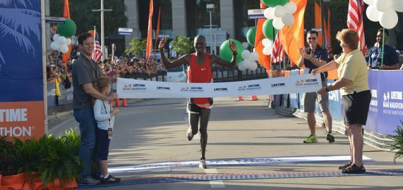 Sammy Malakwen wins the Miami Marathon